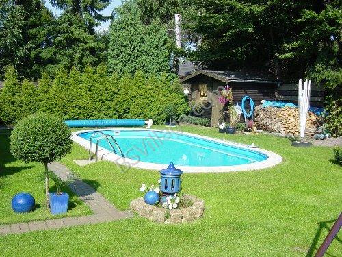 Piscine in acciaio ovali toscana technypools vendita piscine interrate in panelli di acciaio e - Piscine per giardino ...